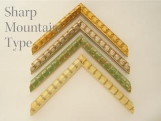 シャープな山型